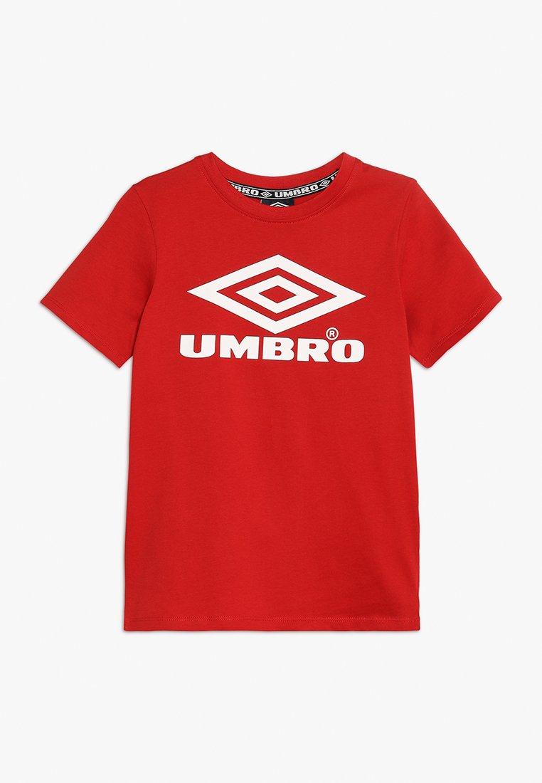 Umbro - CLASSICO KIDS CREW TEE BOYS - T-Shirt print - riot red/white