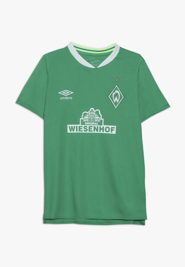 WERDER BREMEN HOME - T-shirt print - golf green/brilliant white