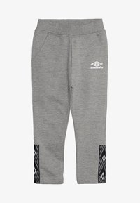 Umbro - FOUNDATION SLIM FIT TAPED PANT BOYS - Pantaloni sportivi - grey marl/white - 4
