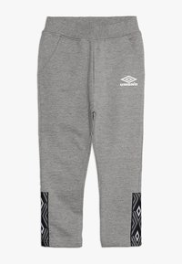 Umbro - FOUNDATION SLIM FIT TAPED PANT BOYS - Pantaloni sportivi - grey marl/white - 0
