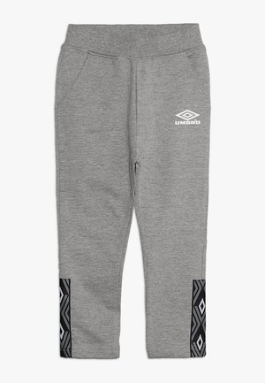 FOUNDATION SLIM FIT TAPED PANT BOYS - Pantaloni sportivi - grey marl/white