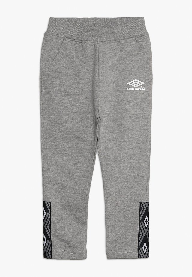 FOUNDATION SLIM FIT TAPED PANT BOYS - Tracksuit bottoms - grey marl/white