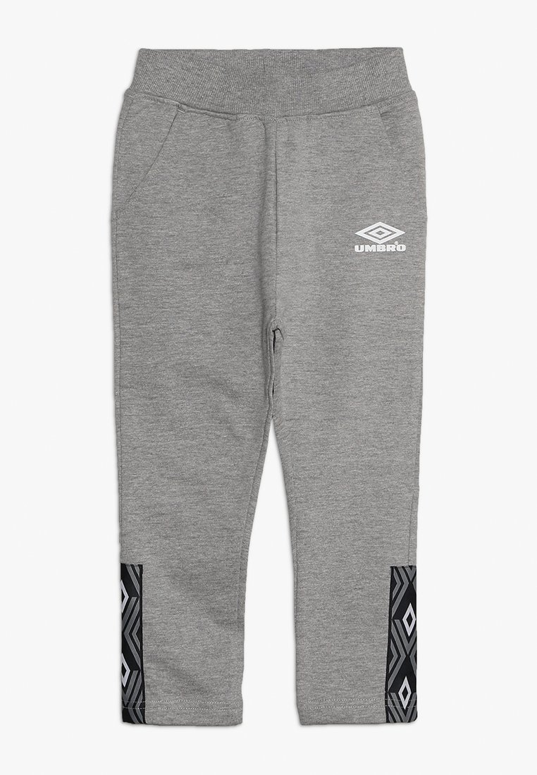 Umbro - FOUNDATION SLIM FIT TAPED PANT BOYS - Jogginghose - grey marl/white