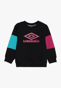Umbro - NEO VISTA CREW BOYS - Mikina - black/berry/ceramic - 0