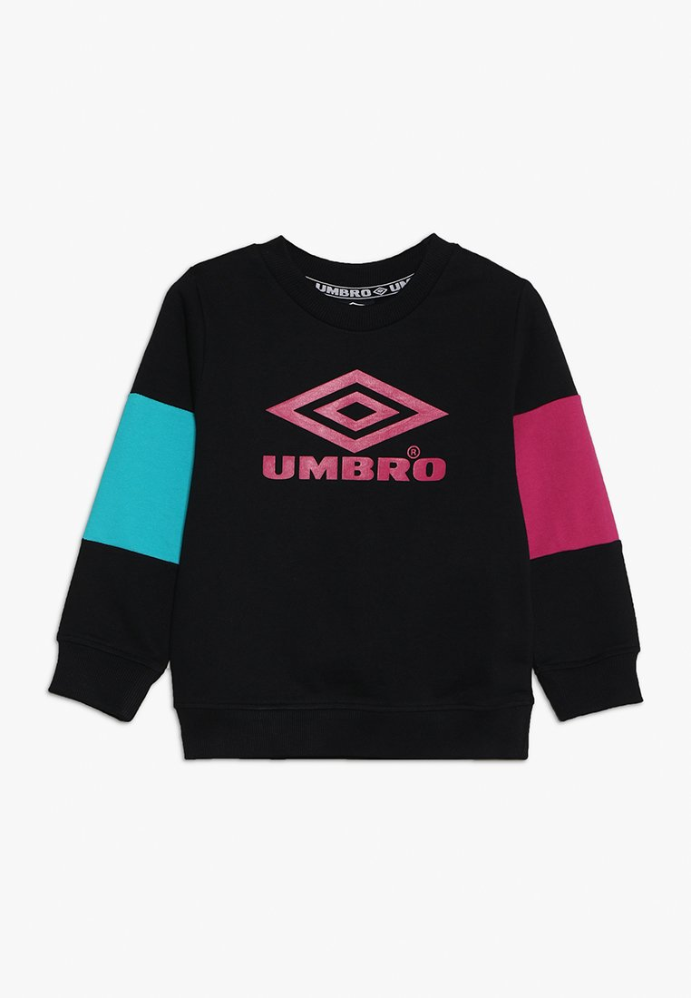 Umbro - NEO VISTA CREW BOYS - Mikina - black/berry/ceramic