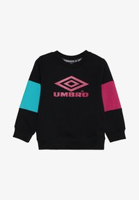 Umbro - NEO VISTA CREW BOYS - Mikina - black/berry/ceramic - 2