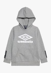 Umbro - FOUNDATION HOOD BOYS - Hoodie - grey marl/white - 0