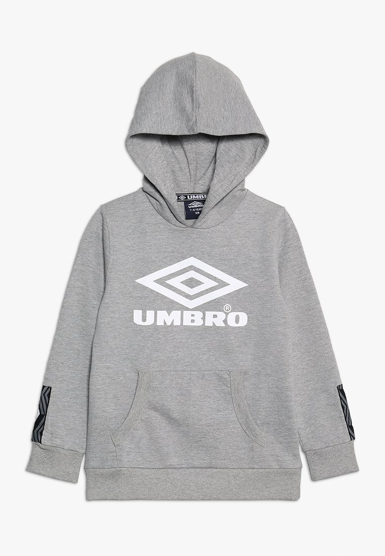 Umbro - FOUNDATION HOOD BOYS - Hoodie - grey marl/white