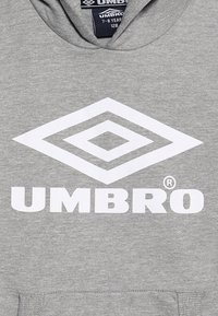 Umbro - FOUNDATION HOOD BOYS - Hoodie - grey marl/white - 4