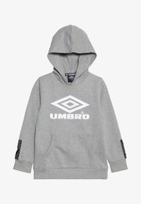 Umbro - FOUNDATION HOOD BOYS - Hoodie - grey marl/white - 3