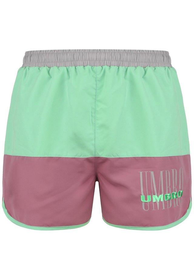 ETHOS  - Swimming shorts - ash grey / cassis / aqua mint