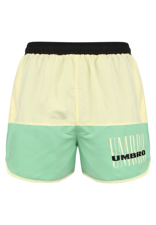 ETHOS  - Badeshorts - black/soft yellow/aqua mint