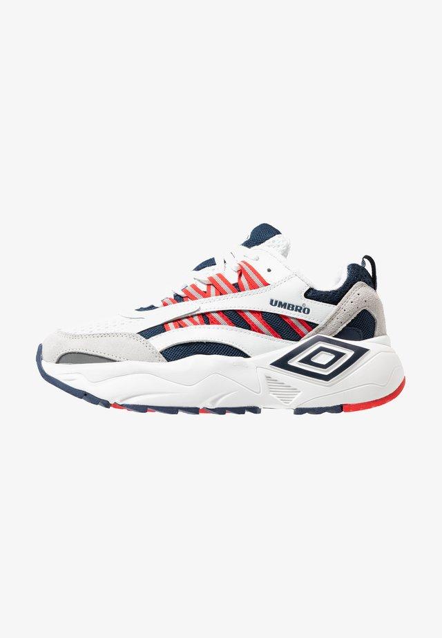 NEPTUNE - Sneakers - white/ dark navy/ vermillion
