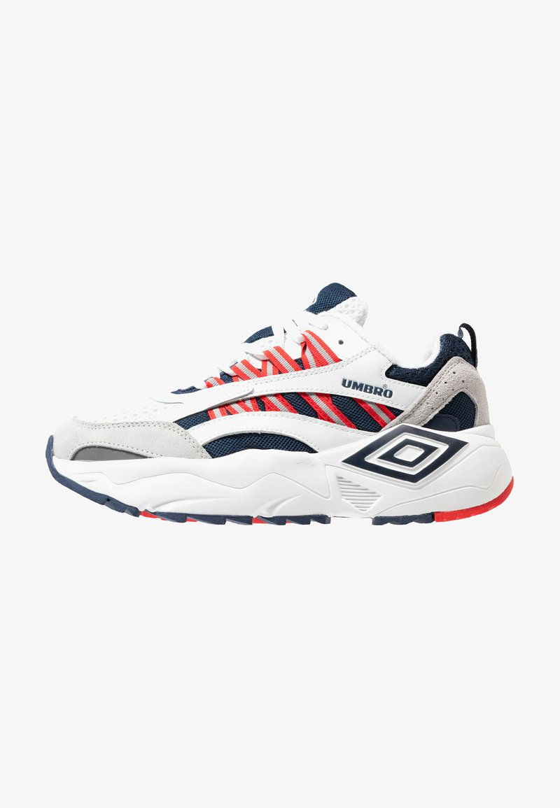 Umbro Projects - NEPTUNE - Sneaker low - white/ dark navy/ vermillion