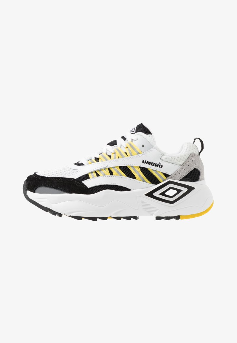 Umbro Projects - NEPTUNE - Sneakers - white/black/grey/blazing yellow