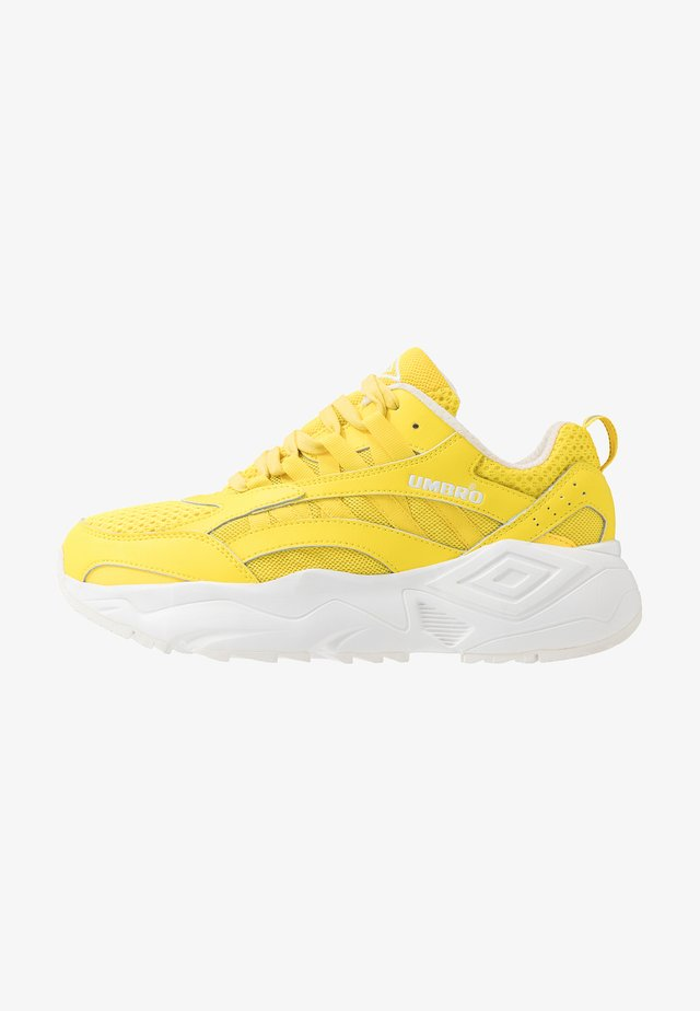 NEPTUNE - Sneaker low - fluo yellow/white/ black