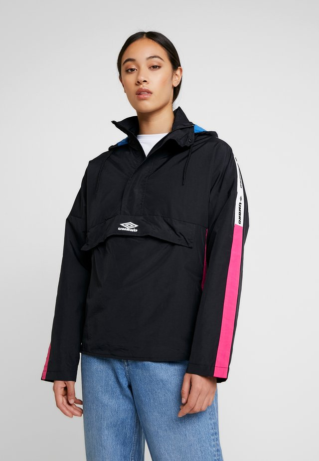 LINA ZIP JACKET WOMEN - Windbreaker - black/sorbet/swedish blue/bright white