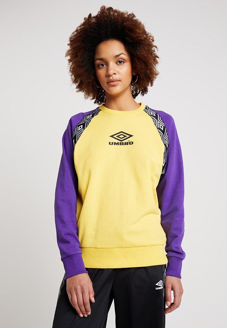 Umbro Projects - DRIVE - Sweatshirt - aurora yellow/prism violet