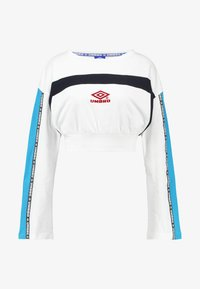 Umbro Projects - TALIS WOMEN - Langærmede T-shirts - bright white/nightfall/swedish blue/loganberry - 4