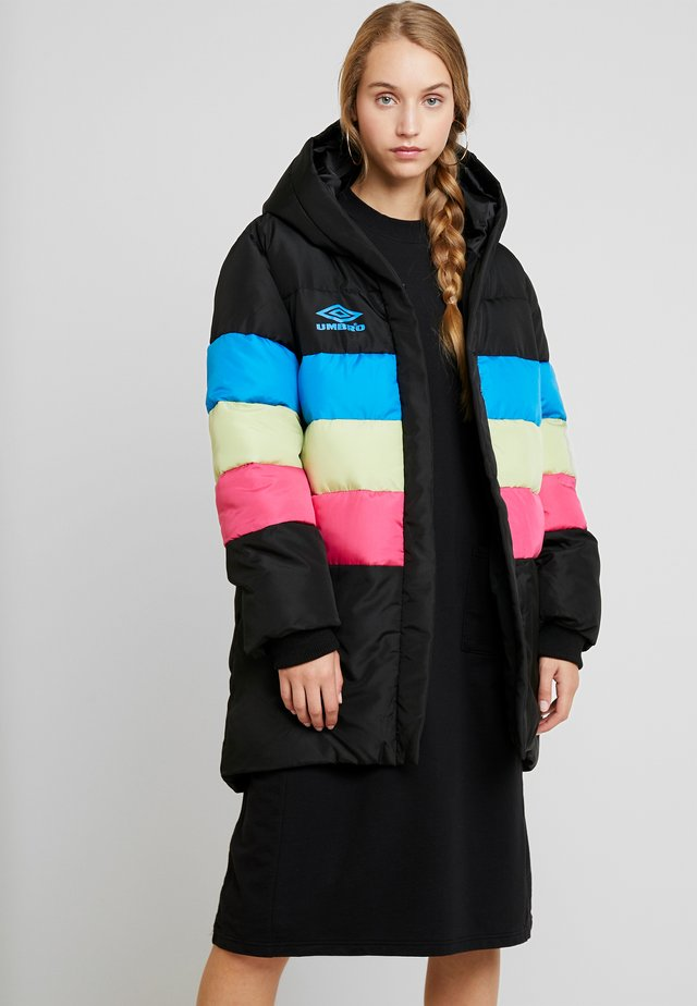 JOYA PADDED JACKET  - Parkaer - black/swedish blue/sorbet/absinth