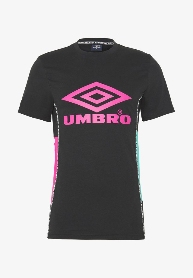 UMBRO HORIZON CREW TEE - T-Shirt print - ceramic/deep surf/black