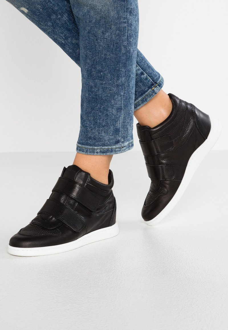 Unisa - GARRY - Sneakers high - black softy