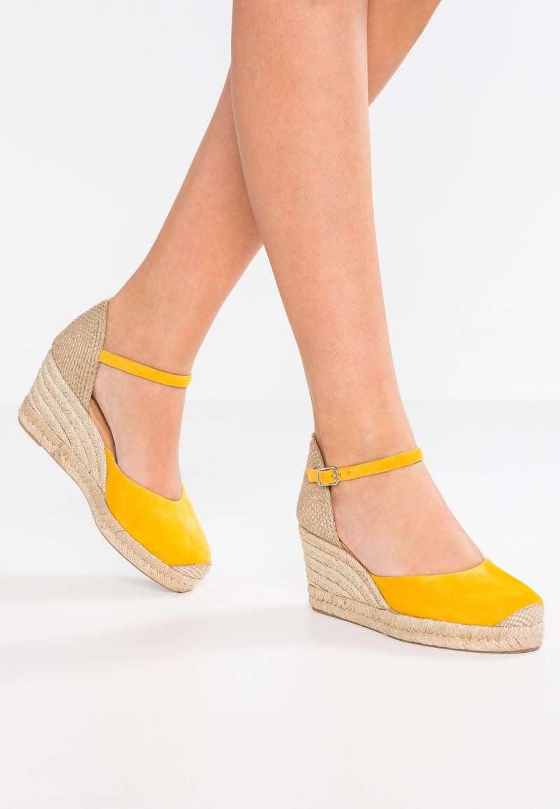 Unisa - CACERES - High heeled sandals - yellow
