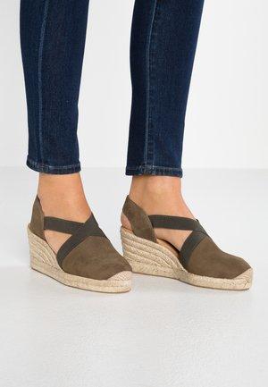 CAILAN - Platform sandals - salvia