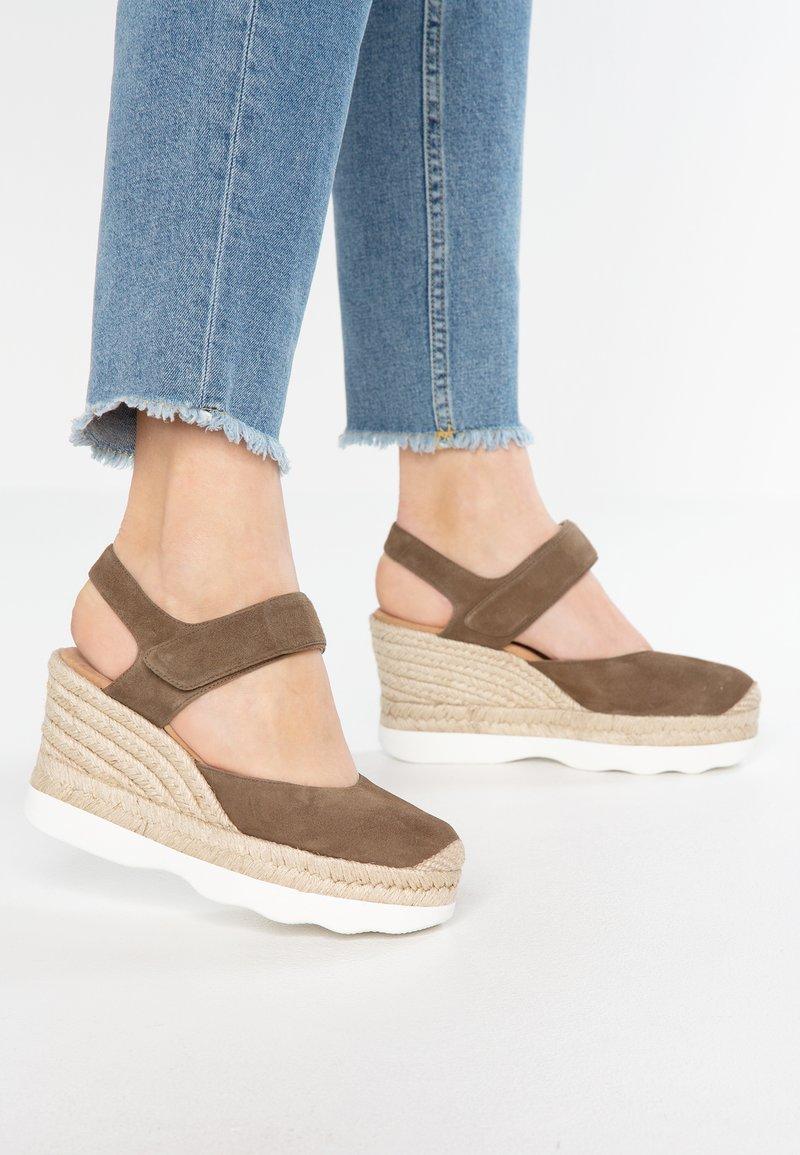 Unisa - CALANDA - High Heel Sandalette - salvia