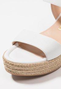 Unisa - KALKA - Platform sandals - white - 2