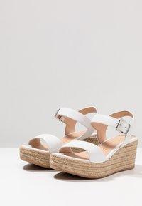 Unisa - KALKA - Platform sandals - white - 4