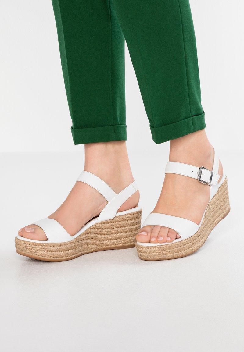Unisa - KALKA - Platform sandals - white