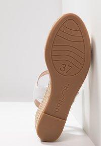 Unisa - KALKA - Platform sandals - white - 6