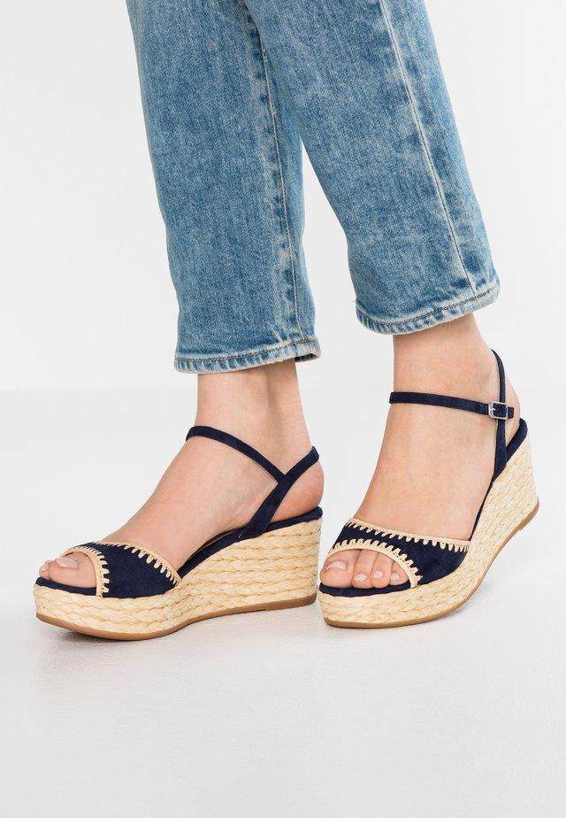 KISSES - Korkeakorkoiset sandaalit - ocean