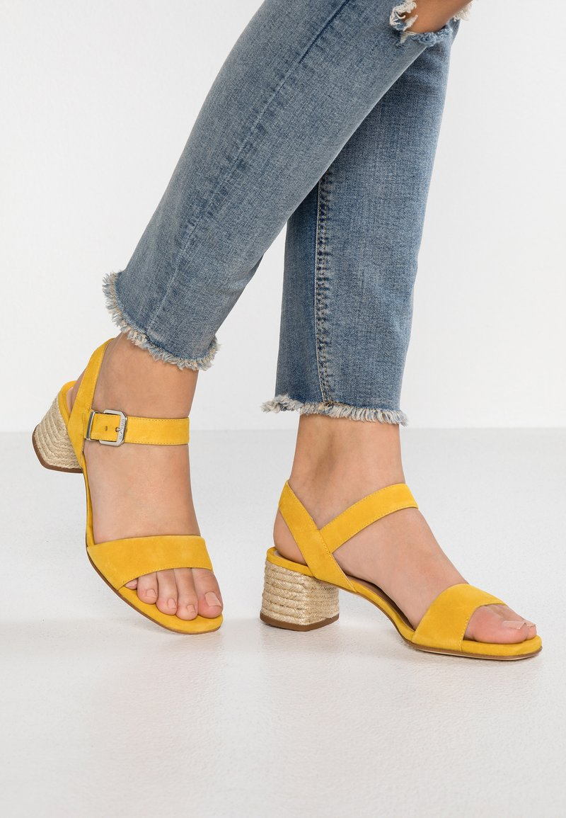 Unisa - KANELA - Sandals - yellow