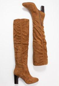 Unisa - URICA - Kozačky nad kolena - peanut - 3