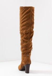 Unisa - URICA - Kozačky nad kolena - peanut - 5