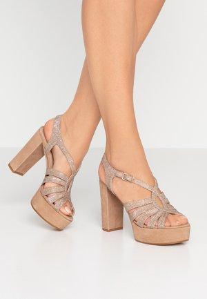 VABEL - Korolliset sandaalit - taupe