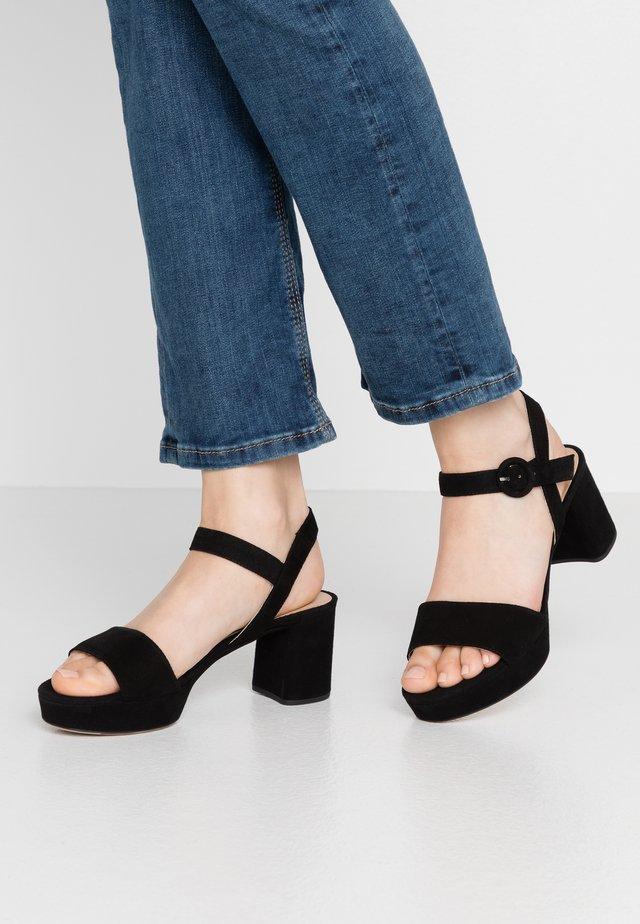 NENES - Platform sandals - black