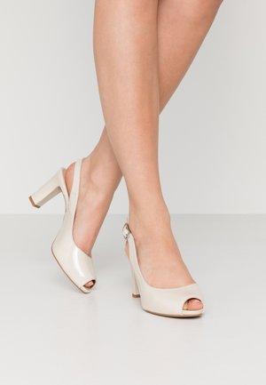 NICKA CLASSIC - Høye hæler med åpen front - ivory