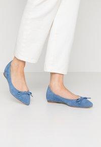 Unisa - ABENO - Ballet pumps - azure - 0