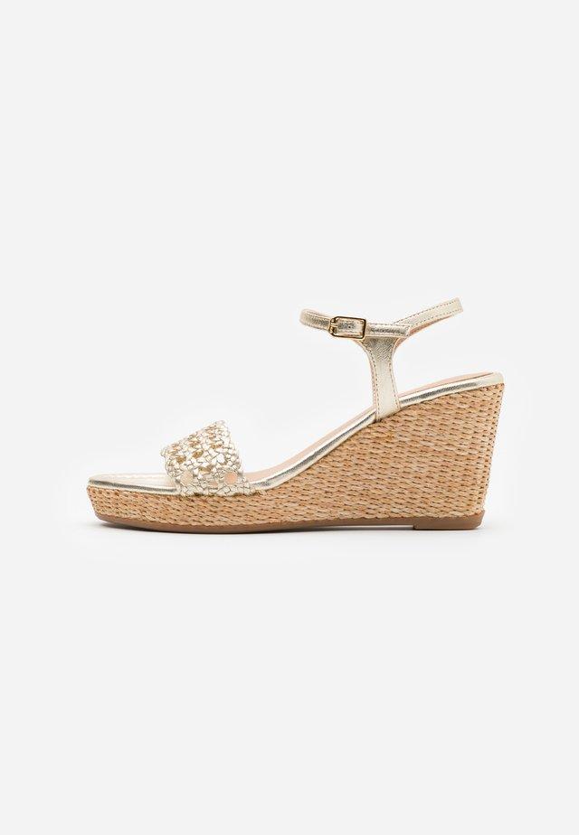 LOBI - High heeled sandals - platino
