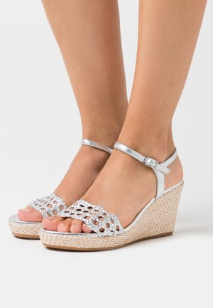LOBI - High heeled sandals - silver