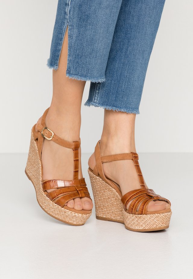 MOLINO - High heeled sandals - bisquit