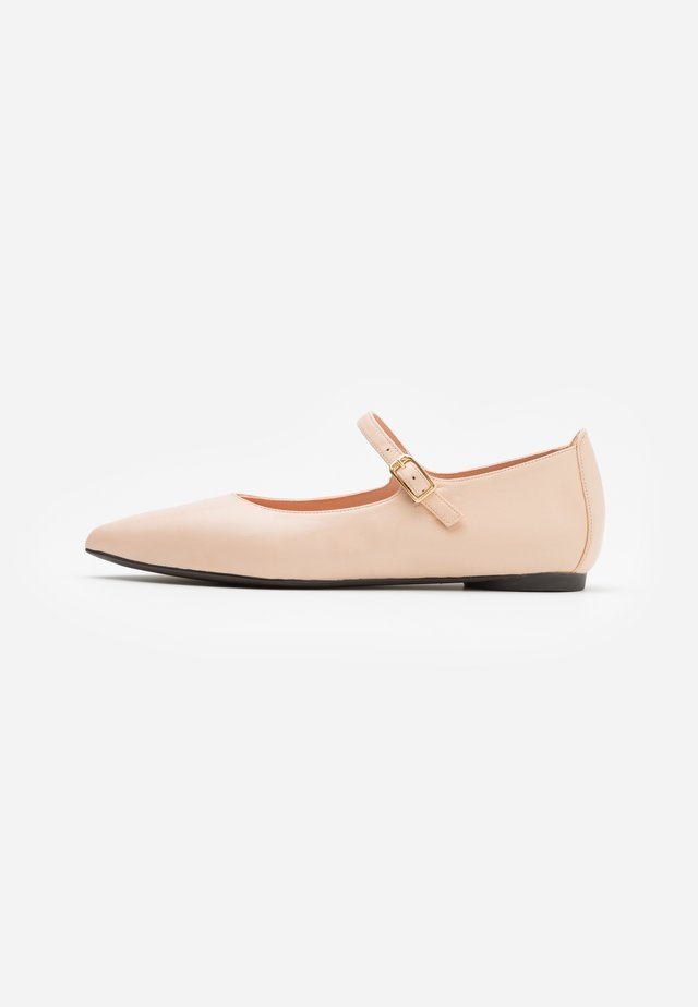 ABAT - Ankle strap ballet pumps - shell