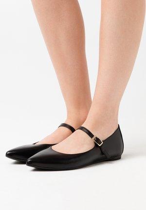 ABAT - Ankle strap ballet pumps - black