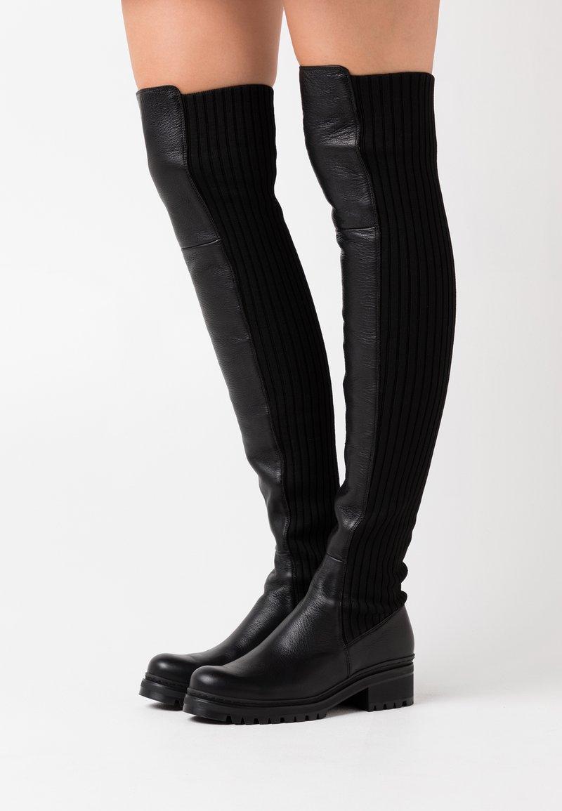 Unisa - ISABA - Over-the-knee boots - black