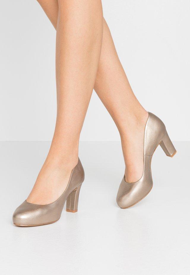 NUMIS - Platform heels - lightmetal/mumm