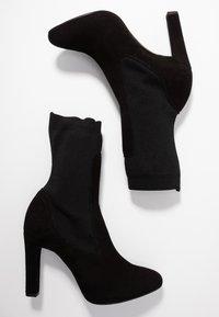 Unisa - PORT - Kotníková obuv na vysokém podpatku - black - 3