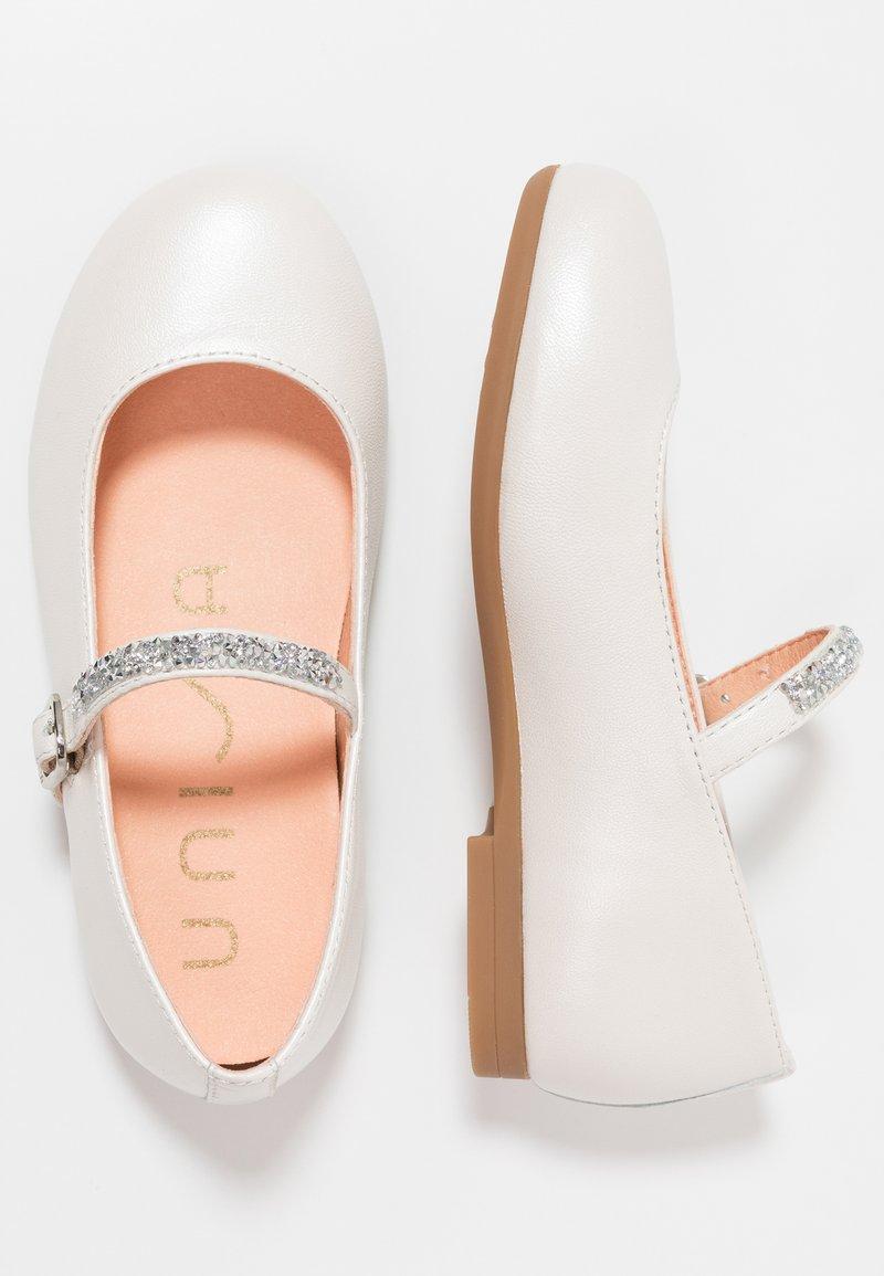 Unisa - CLERVY - Ankle strap ballet pumps - silk bone